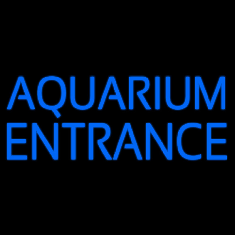 Blue Aquarium Entrance Neontábla