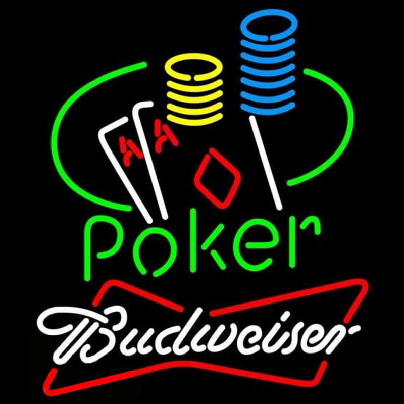 Budweiser Poker Ace Coin Table Beer Sign Neontábla
