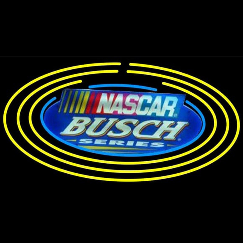 Busch Nascar Oval Beer Sign Neontábla