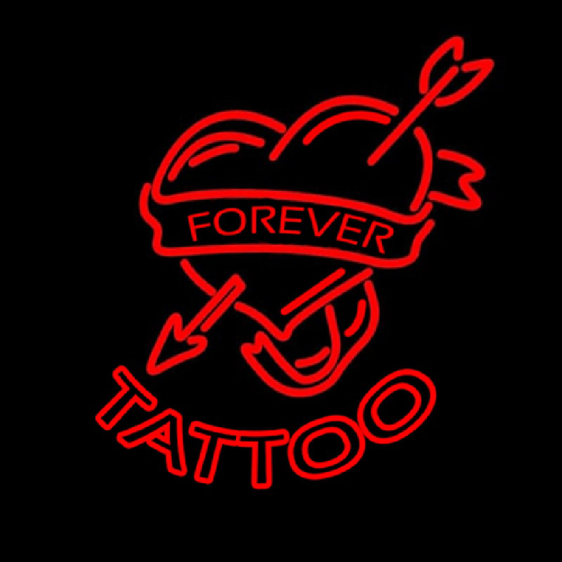 Forever Tattoo Neontábla