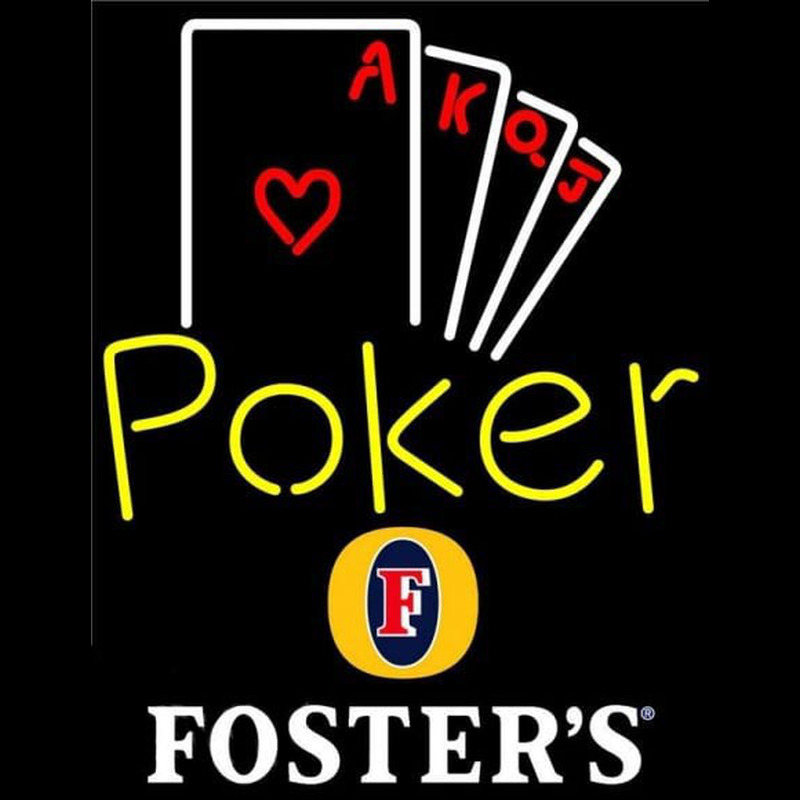 Fosters Poker Ace Series Beer Sign Neontábla