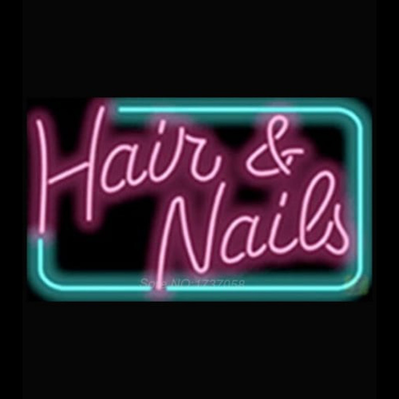 Hair and Nails Neontábla