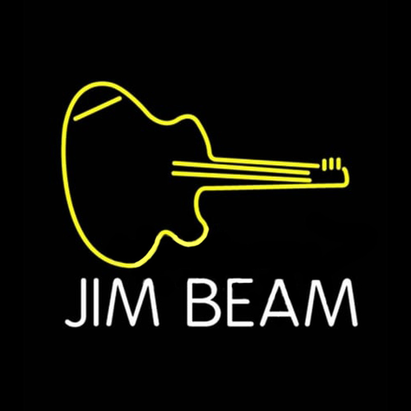 Jim Beam Guitar Neontábla