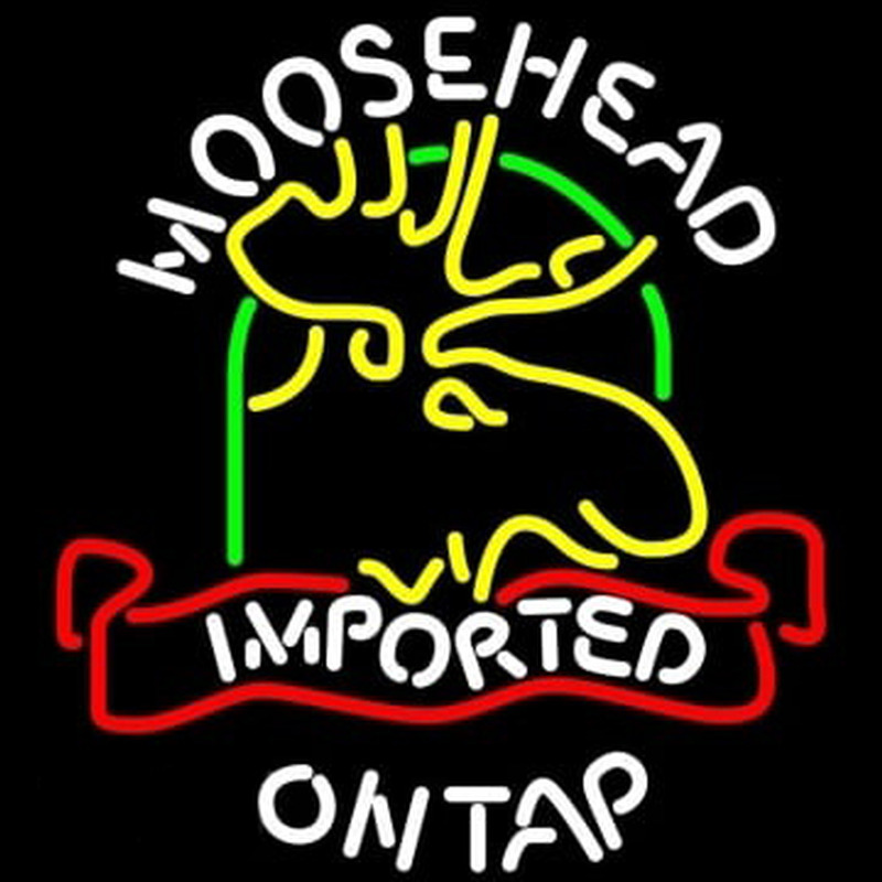 Moosehead Moose Imported On Top Neontábla