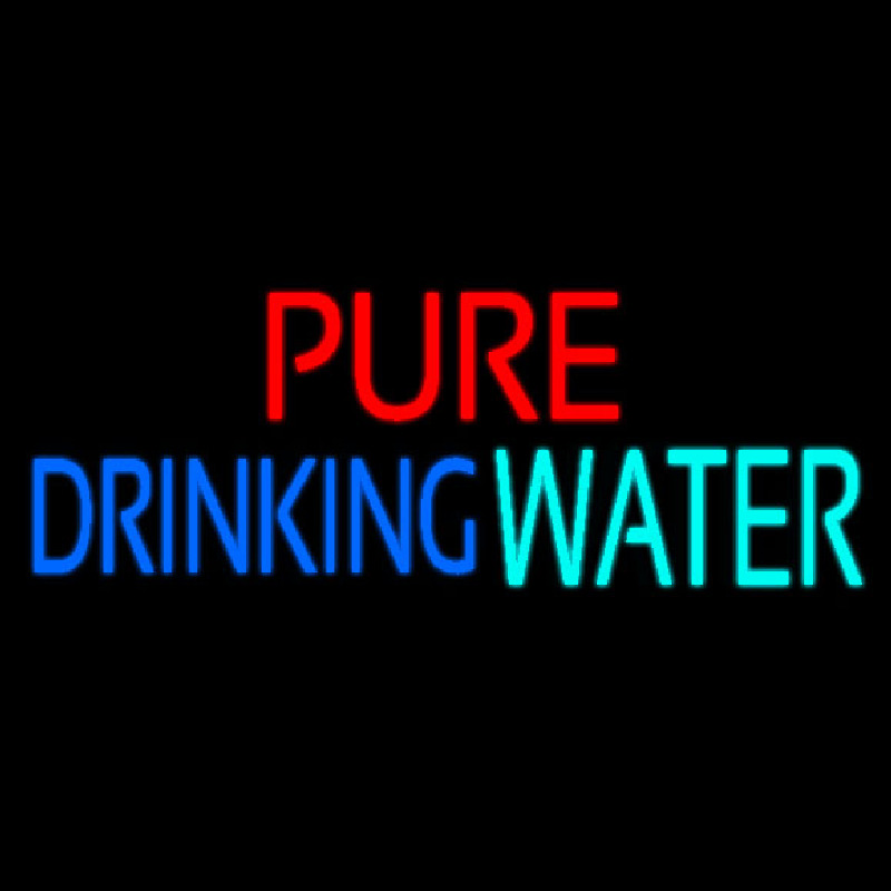 Pure Drinking Water Neontábla