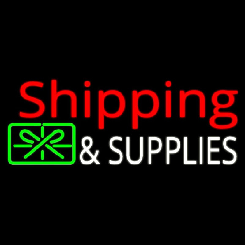 Shipping And Supplies With Logo Neontábla