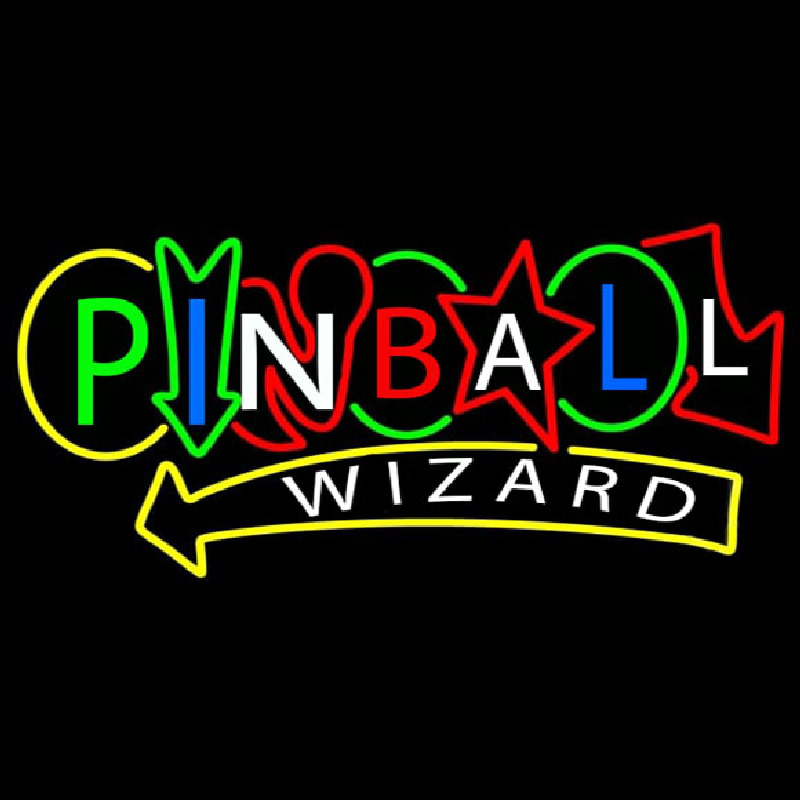 Stylish Pinball Wizard Neontábla