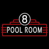8 Pool Room Neontábla