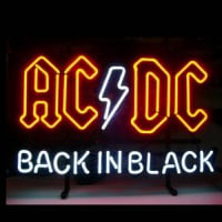 Ac Dc Back In Black Neontábla