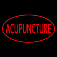Acupuncture Oval Red Neontábla