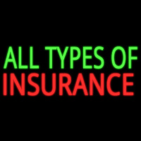 All Types Of Insurance Neontábla