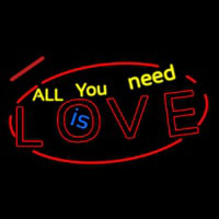 All You Need Is Love Neontábla