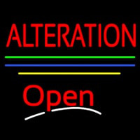 Alteration Open Yellow Line Neontábla