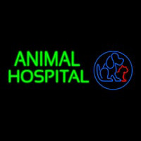 Animal Hospital Dog Cat Logo Veterinary Neontábla