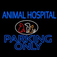 Animal Hospital Parking Only Neontábla