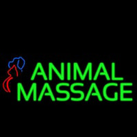 Animal Massage Dog Cat Logo Neontábla