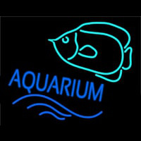 Aquarium With Fish Logo Neontábla