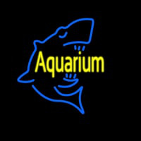 Aquarium With Shark Logo Neontábla