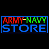 Army Navy Store With Blue Border Neontábla