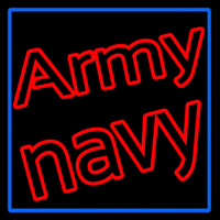 Army Navy With Blue Border Neontábla