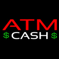 Atm Cash With Dollar Logo Neontábla