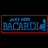Bacardi Just Add Rum Sign Neontábla