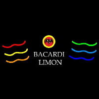 Bacardi Limon Multi Colored Rum Sign Neontábla