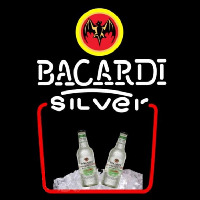 Bacardi Silver Rum Sign Neontábla