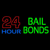 Bail Bonds 24 Hour Neontábla