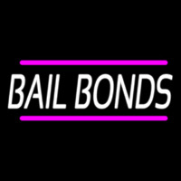 Bail Bonds With Pink Lines Neontábla