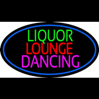Bar Liquor Lounge Dancing With Wine Glasses Neontábla
