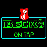 Beck On Tap Key Label Beer Neontábla