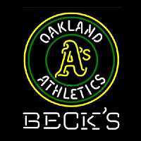 Becks Oakland Athletics Neontábla