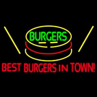 Best Burgers Intown Neontábla
