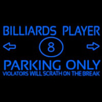 Billiards Player Parking Only Neontábla