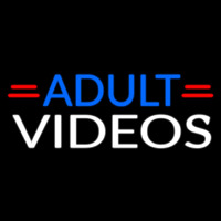 Blue Adult White Videos Neontábla