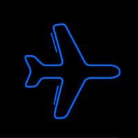 Blue Airplane Logo Neontábla