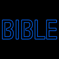 Blue Bible Neontábla