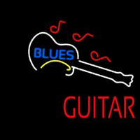 Blue Blues Red Guitar Neontábla