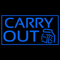 Blue Carry Out Neontábla