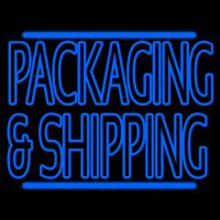 Blue Double Stroke Packaging And Shipping Neontábla