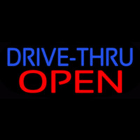 Blue Drive Thru Red Open Neontábla