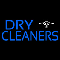 Blue Dry Cleaners Logo Neontábla