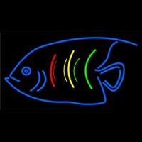 Blue Fish Logo Neontábla