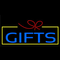 Blue Gifts Block Logo Neontábla