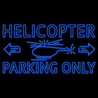 Blue Helicopter Parking Only Neontábla