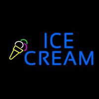 Blue Ice Cream Logo Neontábla