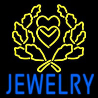 Blue Jewelry Block Logo Neontábla