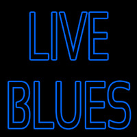 Blue Live Blues Neontábla