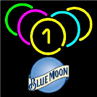 Blue Moon Billiard Rack Pool Beer Sign Neontábla
